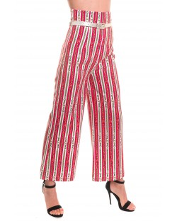 CHAIN PATTERNED TROUSERS 91EPT235