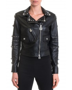 LEATHER JACKET WITH STUDS 91GPP130