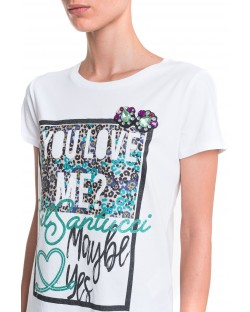 T-SHIRT WITH GLITTERING PRINT 91MPT807