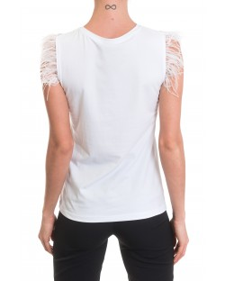 T-SHIRT WITH FRINGES 91MPT824