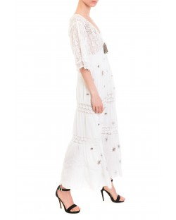 LONG DRESS WITH EMBROIDERY 91MPT864