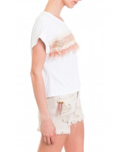 T-SHIRT WITH FEATHERS 91MPT872