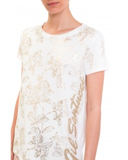 T-SHIRT WITH FLORAL EDGE 91MPT873