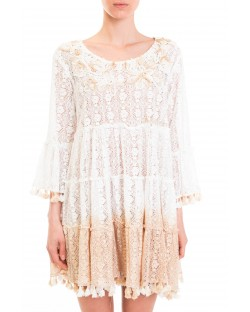 DRESS WITH PEARL EMBROIDERY 91MPT877