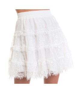 SKIRT WITH FLOUNCES 91RPT669