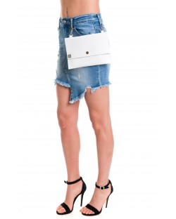 MINISKIRT WITH REAL LEATHER MARSUPIUM 91SPT448