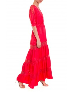 LONG DRESS WITH LACE INSERTS 91SPT451