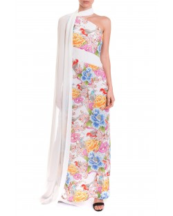 DRESS WITH TATTOO PATTERN 91XPT905