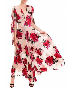 DRESS WITH SATIN FLOWERS 92XPT936