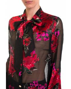SHIRT WITH SATIN FLOWERS 92XPT937