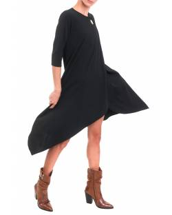 MARCI DRESS WITH ASYMMETRIC BOTTOM 92CPT502