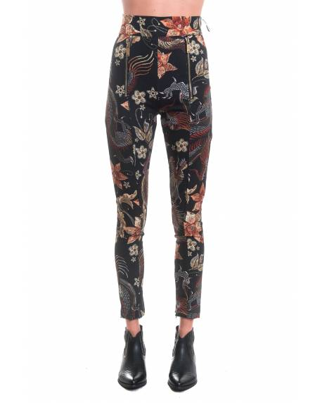 PATTERNED HIGH WAIST TROUSERS 92BPT748
