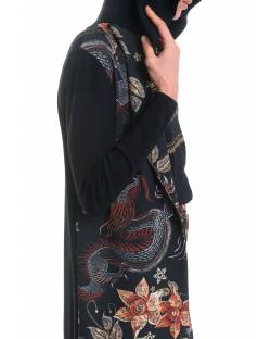 DRAGON FLOWER PATTERNED CARDIGAN 92BPT749