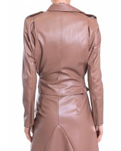 LEATHER JACKET WITH BELT 01GPT106