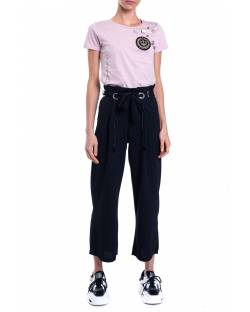 CROPPED TROUSERS WITH LOGOED BELT 01NPT220