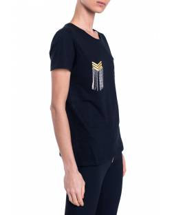 T-SHIRT CON CATENA STRASS 01SPT413