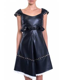 DRESS WITH DECORATIVE EYELETS 01XPT906