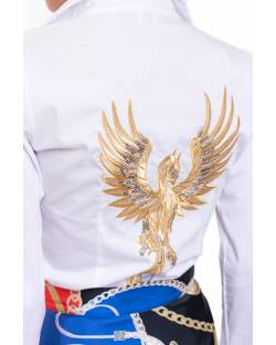 SHIRT WITH CUSTOMISED EMBROIDERY AND PAILLETTES 02SPT408