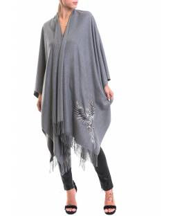 CAPE WITH CUSTOMISED EMBROIDERY AND PAILLETTES 02SPT407