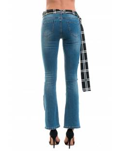 JEANS WITH SCARF BELT AT THE WAIST 02CPT508