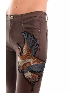 ECO-LEATHER PANTS WITH CUSTOM EMBROIDERY 02CPT510