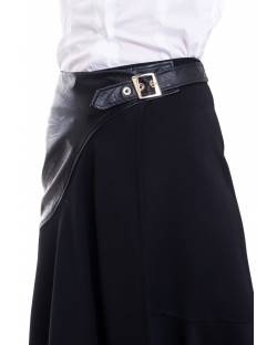 SKIRT WITH ECO-LEATHER INSERT 02RPT609