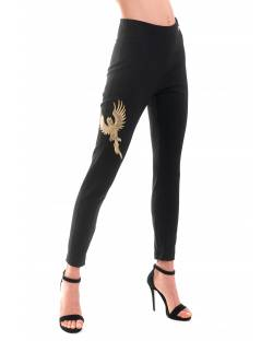 HIGH-WAISTED TROUSER WITH CUSTOM EMBROIDERY 02XPT912