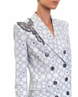ROBE MANTEAU WITH CUSTOM PHOENIX EMBROIDERY 02XPT915