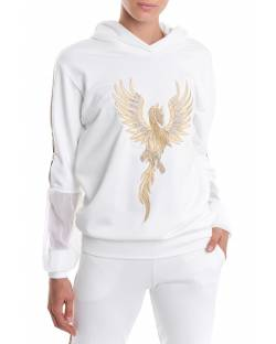 SWEATSHIRT WITH CUSTOM EMBROIDERY AND PAILLETTES 02BPT719