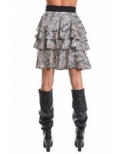ANIMALIER SKIRT WITH ROUCHES 02BPT732