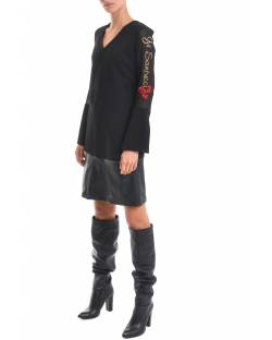 DRESS WITH EMBROIDERED LOGO AND FAUX-LEATHER 02BPT743