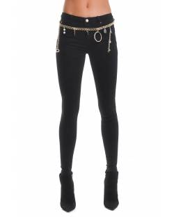 JEANS WITH GOLD METAL CHAIN 02CPT544