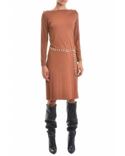 DRESS WITH EMBROIDERED LOGO AND BELT 02CPT545