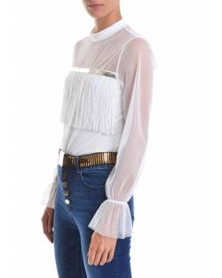 SWEATER WITH LOGO AND FRINGE ON THE FRONT 02CPT548