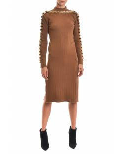 KNITTED DRESS WITH JEWEL CHAIN APPLICATION 02CPT551