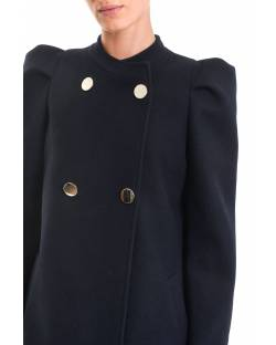 PUFFED SHOULDER COAT AND DOUBLE-BREASTED CLOSURE 02RPT631