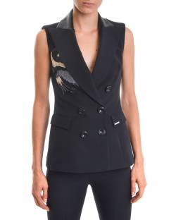 WAISTCOAT WITH CUSTOM EMBROIDERY AND DOUBLE-BREASTED CLOSURE 02XPT921