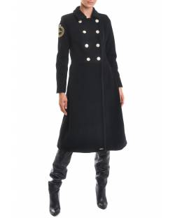 COAT WITH LOGO PATCH AND DOUBLE-BREASTED CLOSURE 02XPT929