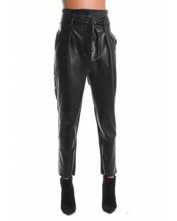 FAUX-LEATHER TROUSER WITH LOGO STUDS 02XPT931
