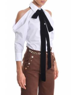SHIRT WITH BARE SHOULDERS AND BOW ON THE FRONT 02XPT941