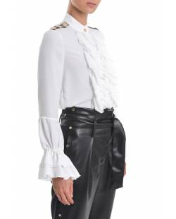 BODY WITH RUFFLES AND JEWEL APPLICATIONS ON THE SHOULDERS 02XPT944