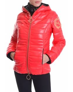 DOWN JACKET IN ECO-FEATHERS WITH HOOD 02BPT734