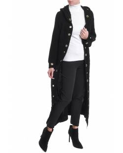 LONG CARDIGAN WITH HOOD AND STUDS 02CPT564