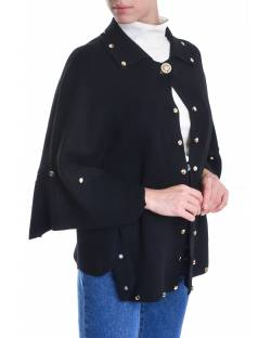 CARDIGAN DECORATED WITH STUDS AND PERSONALIZED BUTTON FOR CLOSING 02CPT566