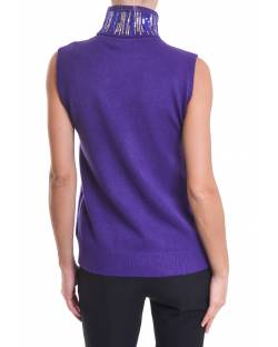 HIGH NECK SLEEVELEES SWEATER 02NPT232