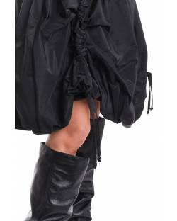 SKIRT WITH FAUX LEATHER BAND AND CURLABLE AT THE BOTTOM 02RPT644