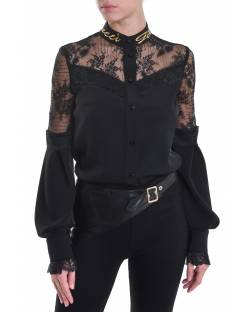 SHIRT WITH BALLOON SLEEVES AND LACE INSERTS 02XPT937