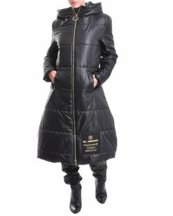 LONG DOWN JACKET WITH HOOD AND LOGO 02XPT951