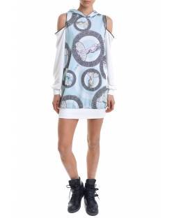 PRINTED DRESS WITH HOOD 11RPT601