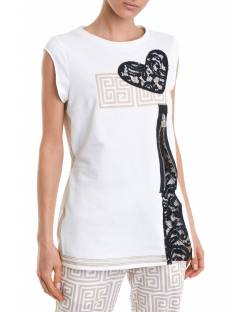 T-SHIRT WITH LACE INSERTS ON THE BACK 11RPT603